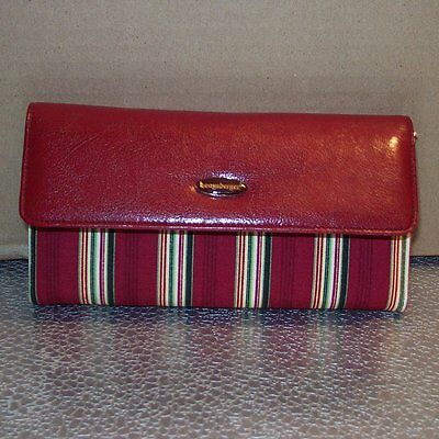 Longaberger Holiday Stripe LARGE CHECKBOOK WALLET ~ Brand New with Original Tag!