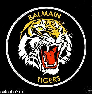 BALMAIN TIGERS Vinyl Decal Sticker RETRO RUGBY LEAGUE NRL Wests