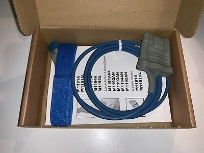 Original Philips M1191B Reusable Adult SpO2 Sensor (brand new)