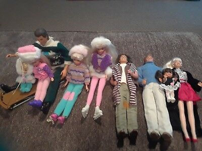 Barbie - Mixed Lot of 9 Dolls