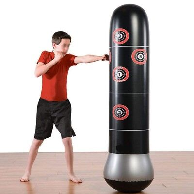 160cm Inflatable Boxing Sandbag Punching Free-Stand Tumbler Muay Thai Training