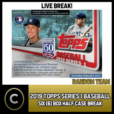2019 Topps Series 1 Baseball - 6 Box (Half Case) Break #a094 -  Random Teams -