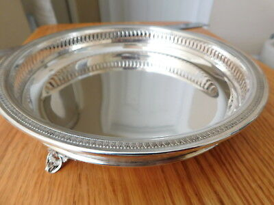 "Fine Italian 800 Silver Footed Tray / Dish / Bowl ~ 280 grams ~ 8 1/2"" ~"