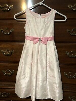White And Pink Little Girl Dress Size 6