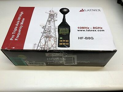 Latnex HF-B8G: Professional High Frequency and RF Meter 10Mhz-8Ghz