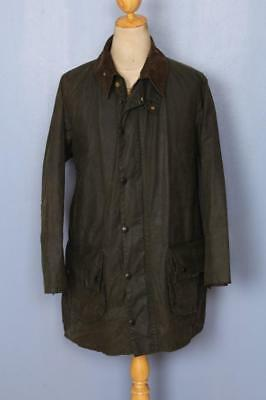 BARBOUR Gamefair Waxed Jacket Green Size 42 Large