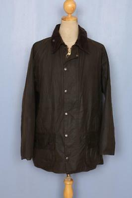 BARBOUR Classic Beaufort Waxed Jacket Olive Size 44 Large