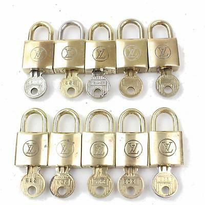 Authentic Louis Vuitton Padlock Set of 10Pairs Gold  118202