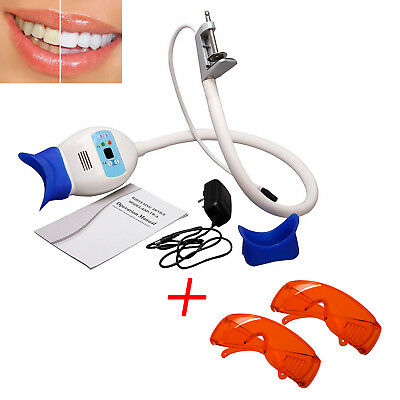 Dental Teeth Whitening LED Light Lamp Bleaching with 2 Protect Goggles