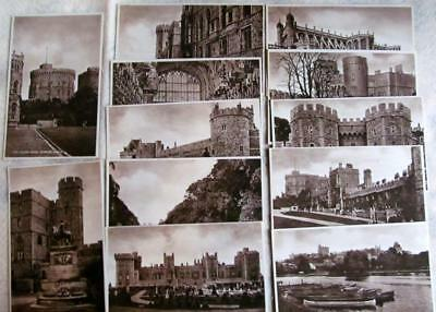Lot of 12 different Vintage postcards with views of WINDSOR CASTLE #50