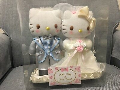 Hello Kitty & Dear Daniel Wedding Doll (Pearl) Plush Soft Cute