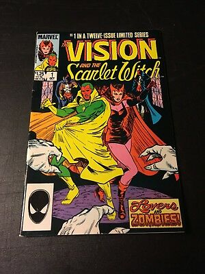 Vision And The Scarlet Witch #1 Vol 2 (Oct 85 Marvel) Origins Retold Vf+!!!