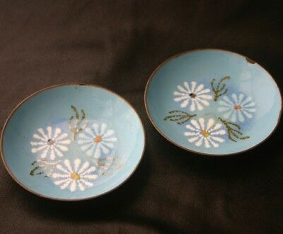 Vintage WILDWEED Enamel on Copper Dishes Aspen