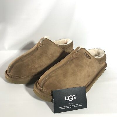 a414e20972d UGG NEUMAN CHESTNUT Suede/ Sheepskin Slippers Shoes, Men Us 11