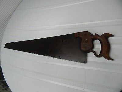 "Vintage! Rare! 1770c. 26"" I.H. Andrew & Co. Sheffield England Hand Wood Saw 5TPI"