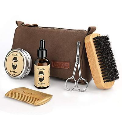 Beard Grooming & Trimming Kit - 6 Mustache Care Set for Men Care | Beard Oil