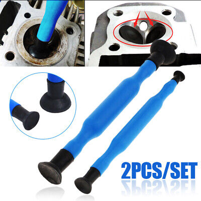 2pcs Valve Lapping Grinding Stick Valve Lapper Tool With Suction Cups Kit Set