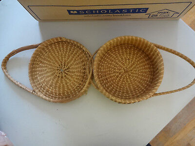 "Basket -Sweetgrass and Pinestraw - Lowcountry - 8 1/2"" - African - FREE SHIPPING"