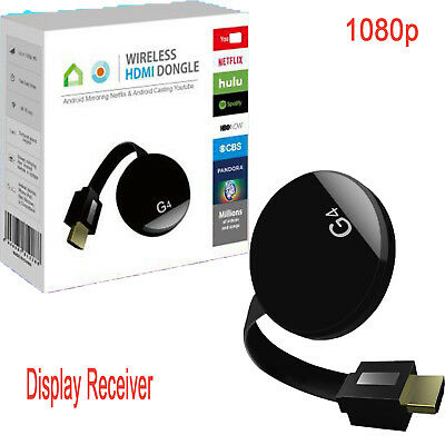 1080p HDMI WiFi Wireless TV Dongle Miracast Airplay Stream Wecast Display G4 YUE