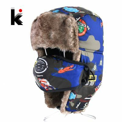 Bomber Hats For Boys And Girls Winter Kids Outdoor Faux Fur Thick Caps With Ear