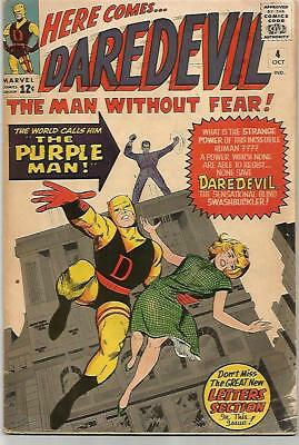 DARE DEVIL # 4   Beautiful Early Silver Age    NICE!!