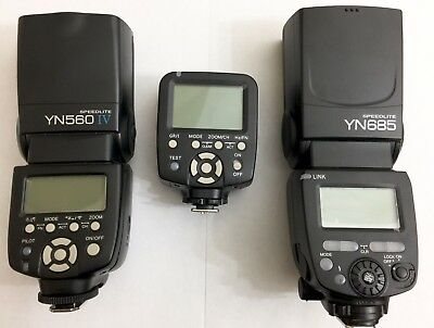 YONGNUO 3Pc Flash Bundle Set YN560 Mark IV Unit YN685 Unit YN560-TX Controller!