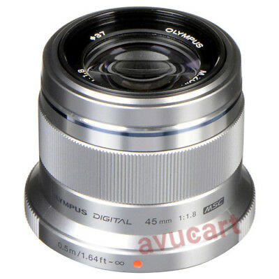 Olympus M.ZUIKO DIGITAL ED 45mm f/1.8 (Silver) Lens Brand New