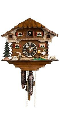 Cuckoo Clock Black Forest house with moving beer drinker HO 164 NEW