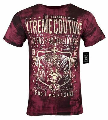 XTREME COUTURE by AFFLICTION Men T-Shirt GREASE & GASOLINE Biker MMA UFC S-4X$40