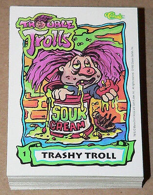 . Trouble Trolls by Classic Games Inc. in 1992. Complete 60 card set like GPK