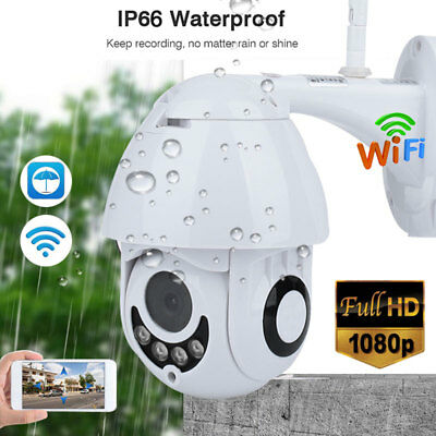 1080P Wireless WiFi IP Camera PTZ Dome CCTV Outdoor Security Surveillance Camare