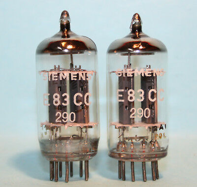 2x SIEMENS EI E83CC SMOOTH PLATES NEU  NEW OLD STOCK VACUUM TUBES