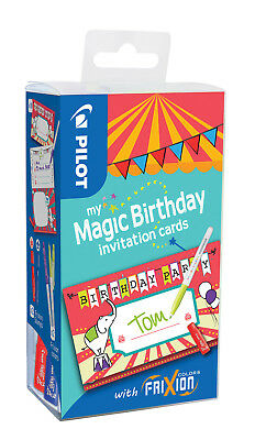 "Pilot my Magic Birthday Cards ""ZIRKUS"" Set mit FriXion Color Stift und Stempel"