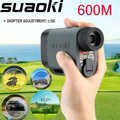 Portable 600m LCD Golf Laser Range Finder Distance Hunting 6x Magnifying+Battery