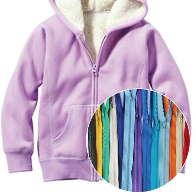 Colorful Chunky Plastic Teeth Zip Zipper Open End For Coat Jacket Accessories