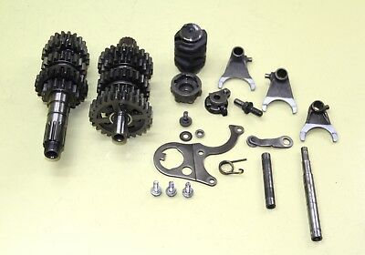 1991 88-91 CR250 CR250R Transmission Assembly Shaft Main Counter Gear Forks Drum