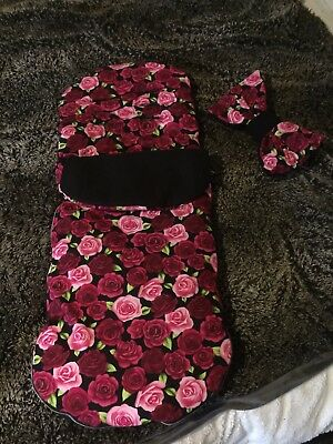 Beautiful Rose Print Footmuff For My Babiie Stroller
