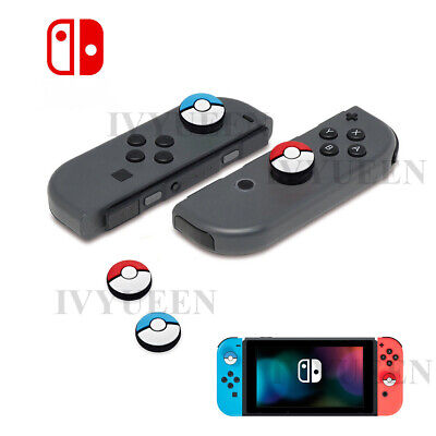 For Nintendo Switch Joy Con Pokemon Silicone Thumb Grips Joystick Cover Caps