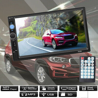 7010B 2Din 7 inch HD Touch Screen Car MP5 Player FM Radio USB/TF For IOS Android