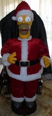 Animated Lifesize Homer Simpson Singing/dancing Santa Christmas Display - Rare