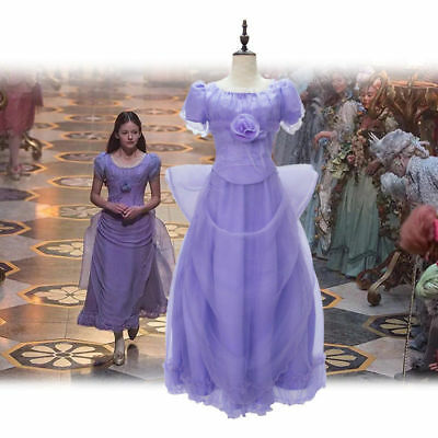 Movie The Nutcracker And The Four Realms Cosplay Clara Costume Girl Purple Dress
