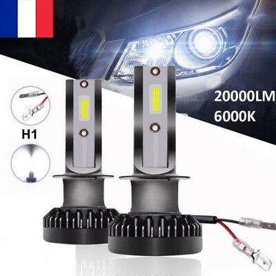 110W 20000LM H1 Voiture LED Ampoules Phare Feux Remplacer Lampes Kit 6000K Blanc
