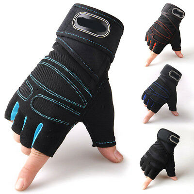 Gym Fitness Weight Lifting Gloves Bodybuilding Workout Training Wrist Strap Wrap