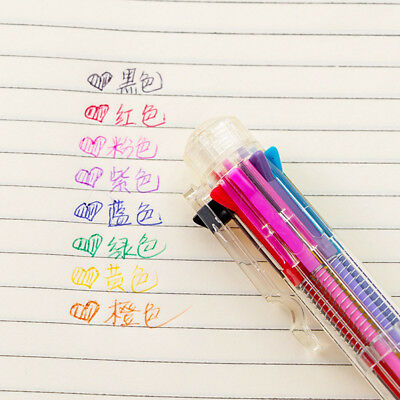 8 in 1 Multi-color Ball Point Pens Ballpoint Pen For School Office Supply