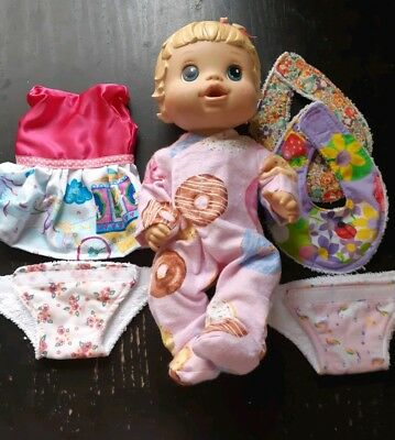 Homemade Little Baby Alive Clearance Bundle 3: Dress,Coverall,2 Nappies,2 Bibs