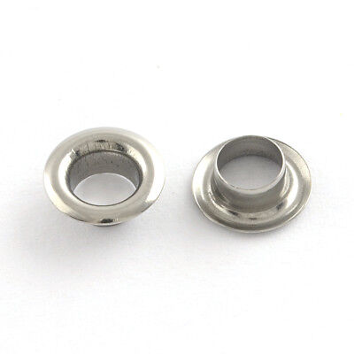 200x Stainless Steel Bead Eyelets Bead Grommets Fits 5mm Bead Hole