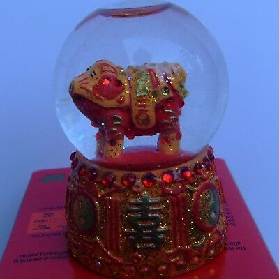 Mini Rich Pig Snowglobe (Happiness) Year Of The Pig