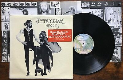Fleetwood Mac ‎– Rumours LP + insert & Hype Sticker Original Australia pressing