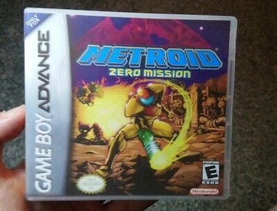 Nintendo Game Boy Advance GBA Replacement Case Metroid: Zero Mission