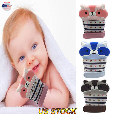 New Born Baby Glove Silicone Teether Pacifier Teething Safe Mitten Teeth Nursing